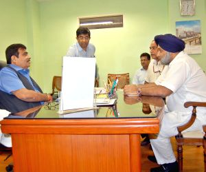 Punjab Dy. CM meets Nitin Gadkari