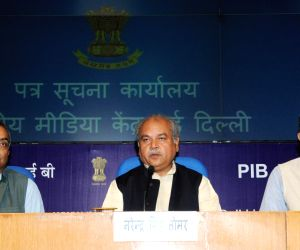 Narendra Singh Tomar 's  press conference