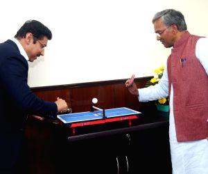 Uttarakhand CM meets Rajyavardhan Singh Rathore