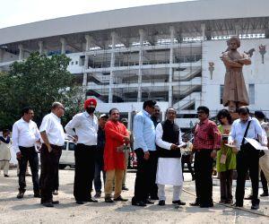 Vijay Goel  inspects Yuva Bharati Krirangan