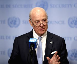 UN SECURITY COUNCIL SYRIA BRIEFING STAFFAN DE MISTURA PRESS CONFERENCE