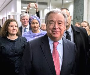 UN-SECRETARY-GENERAL-ANTONIO GUTERRES-FIRST DAY OF WORK