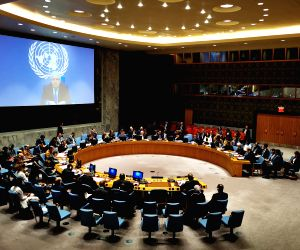 UNITED NATIONS, July 18, 2019 - The United Nations Security Council holds a meeting on the situation of Yemen, at the UN headquarters in New York, July 18, 2019. UN Undersecretary-General for ...