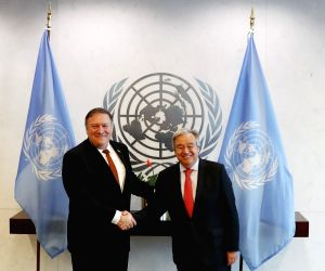 UN NEW YORK U.S. POMPEO GUTERRES MEETING