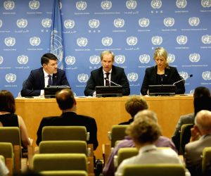 UN SECURITY COUNCIL SWEDEN PRESS CONFERENCE