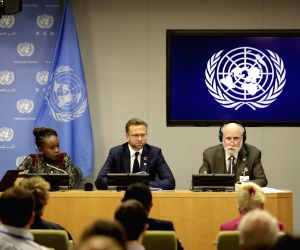 UNITED NATIONS, June 10, 2019 - (From L to R) Nanjira Sambuli, Digital Equality Advocacy Manager for the World Wide Web Foundation, Nikolai Astrup, Norway's Minister of Digitalization, and Vinton ...