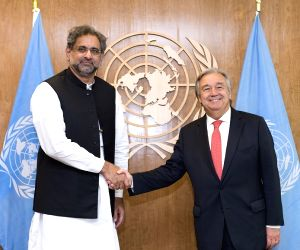 United Nations: Pakistan PM Shahid Khaqan Abbasi met the UN Secretary-General Antonio Guterres