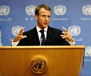 Macron defends multilateralism, Paris Agreement