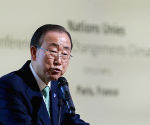 FRANCE-PARIS-COP 21-BAN KI-MOON-INITIATIVE