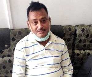 Vkas Dubey 'surrenders' in Ujjain's Mahakaal temple