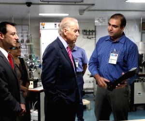 Joe Biden during his visit at Indian institute of technology