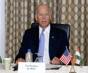 US Vice President Joe Biden with Ratan Tata with Meeting