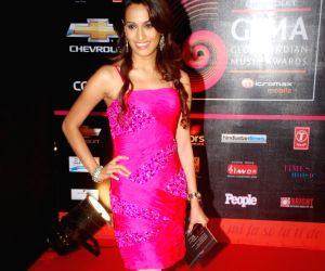 Usha Uthap at Global Indian Music Awards on Wednesday night at Yash Raj Studios.