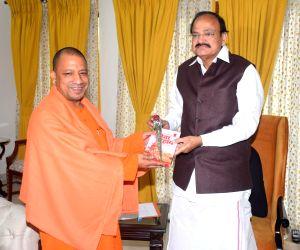 Yogi Adityanath meets Venkaiah Naidu