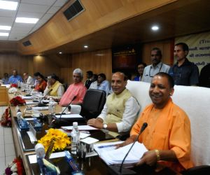 UP CM, Union Ministers during a meeting
