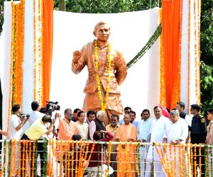 UP governor, CM unveil Upadhyaya's statue