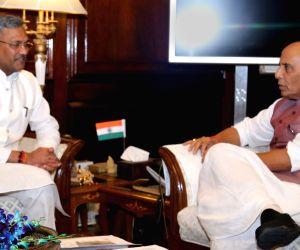 Uttarakhand CM Trivendra Singh Rawat meets Rajnath Singh