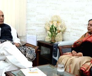 Uttarakhand Governor meets Rajnath Singh