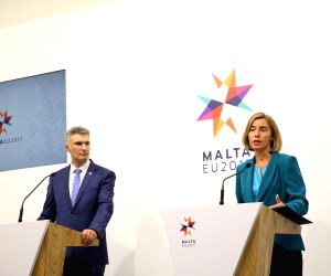 MALTA VALLETTA EU DEFENSE MINISTERS MEETING PRESS CONFERENCE