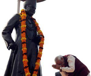 PM Modi pays homage at the statue of Pt. Madan Mohan Malavia