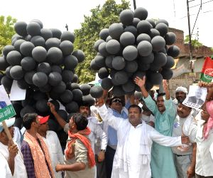Samajwadi Party's demonstration