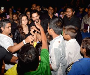 Varun Dhawan and Alia Bhatt visit theatres to meet their fans