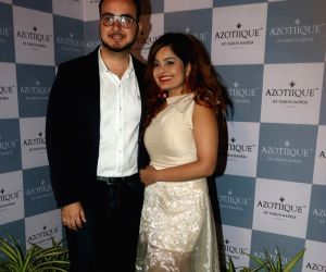 Celebs during a Jewellery store launch