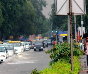 Water logged roads of New Delhi