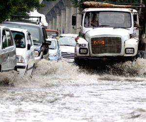 Flooded Okhla road