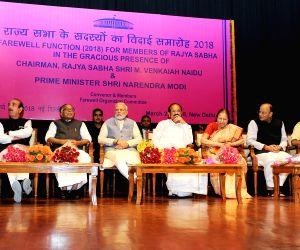 Vice President and Rajya Sabha Chairman M. Venkaiah Naidu, Prime Minister Narendra Modi, Lok Sabha Speaker Sumitra Mahajan, Union Ministers Arun Jaitley, Ananth Kumar, Vijay Goel and Arjun ...