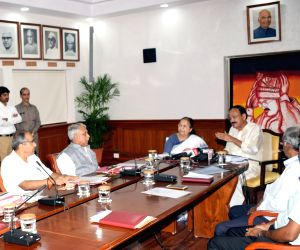 Vice President and Rajya Sabha Chairman M. Venkaiah Naidu chairs a review meeting on funds for relief and rehabilitation works in flood affected Kerala; in New Delhi on Aug 20, 2018. Also ...