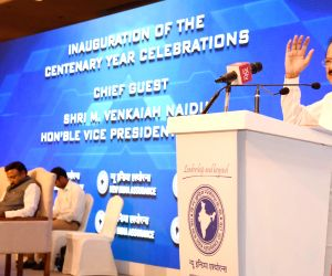 Venkaiah Naidu inaugurates Centenary Celebrations of The New India Assurance Company Limited