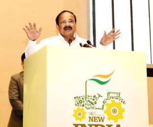 Vice President M. Venkaiah Naidu addresses at New India Conclave organised by Y4D Foundation, in New Delhi on July 16, 2018.