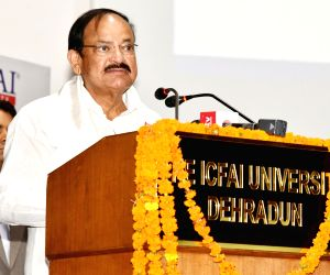 Venkaiah Naidu, Uttarakhand CM at the Convocation of ICFAI University