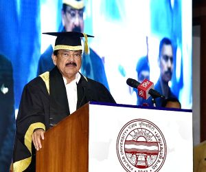 Vice President M Venkaiah Naidu addresses at the 68th Convocation of Panjab University in Chandigarh, on April 28, 2019.
