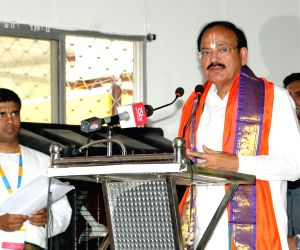 Vice President during inauguration of Lakshmi Narasimha Swamy Temple