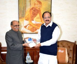 Venkaiah Naidu receives first copy of the Book