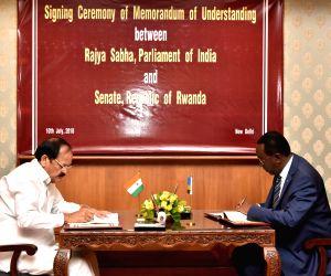 Rwanda Senate President meets Venkaiah Naidu