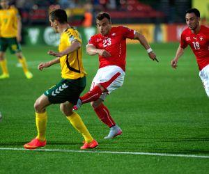 LITHUANIA-VILNIUS-UEFA EURO 2016 QUALIFIERS-LITHUANIA VS SWITZERLAND
