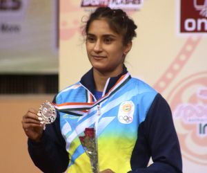 Wrestler Vinesh clinches gold at Spanish Grand Prix