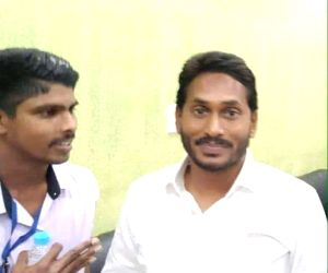 Visakhapatam: Jaripalli Srinivas (L) who attacked YSR Congress Party President Y.S. Jaganmohan Reddy with a knife, according to the police, sneaked up to him with a request to take a selfie, on Oct 25, 2018. The attacker works as a waiter at a restau