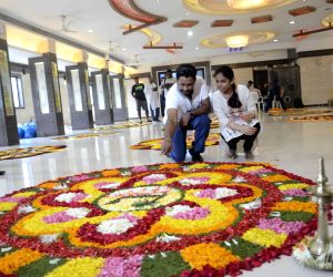 Flower-rangoli competition