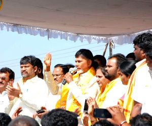 Andhra CM during his visit to Warangal