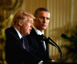 U.S. WASHINGTON D.C. TRUMP NATO STOLTENBERG JOINT PRESS CONFERENCE