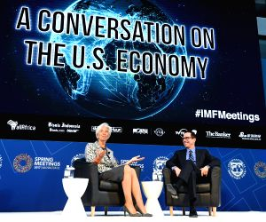 U.S. WASHINGTON D.C. IMF SPRING MEETING CONVERSATION