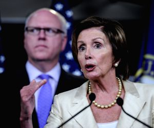 Washington D.C.: Nancy Pelosi during a news conference about resolution to sue the U.S. President