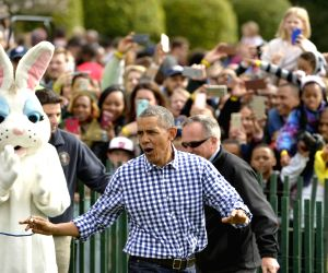 U.S.-WASHINGTON D.C.-WHITE HOUSE-EASTER EGG ROLL
