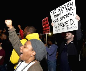 Washington D.C (United States): Protest against the grand jury's decision not to charge police officer Darren Wilson in the fatal shooting