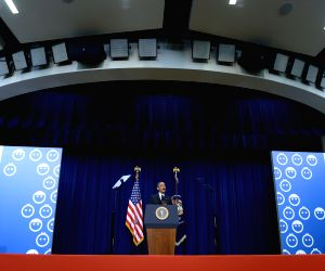Washington D.C: (United States) Barack Obama at White House Summit