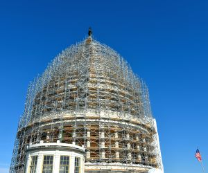 Washington D.C.(U.S.): U.S. Capitol Dome seens during a restoration project